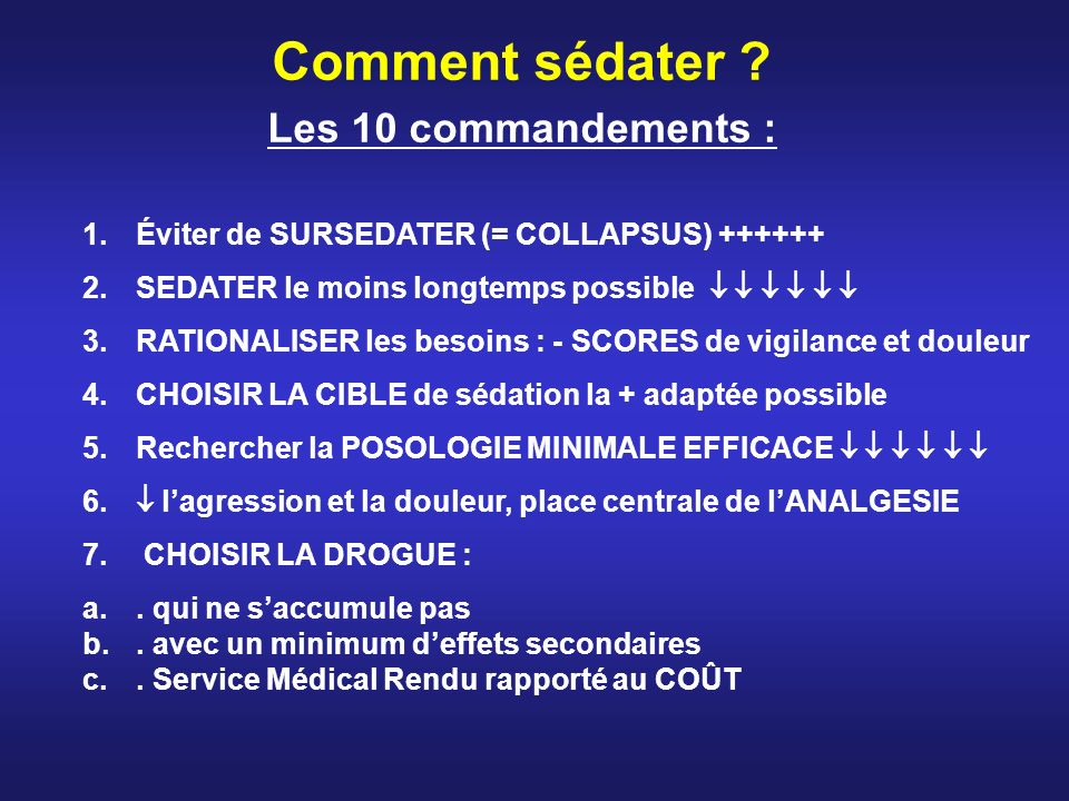 Comment sédater Les 10 commandements :