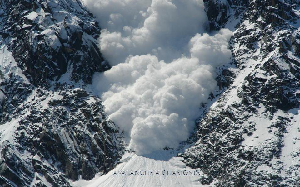 Avalanche à Chamonix