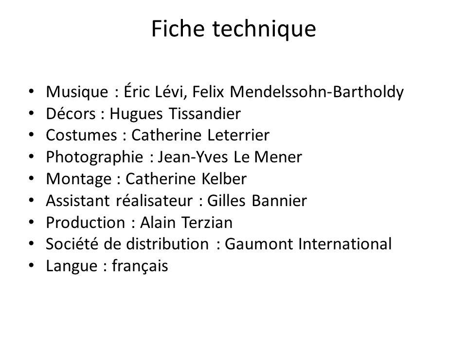 Fiche technique Musique : Éric Lévi, Felix Mendelssohn-Bartholdy