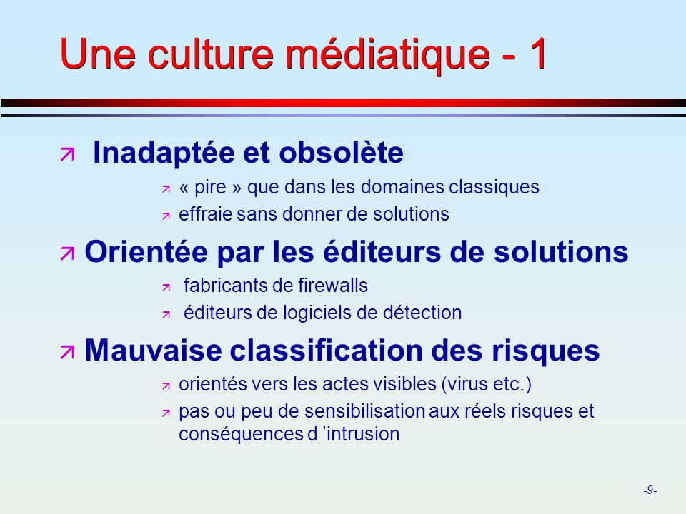Une culture médiatique - 1
