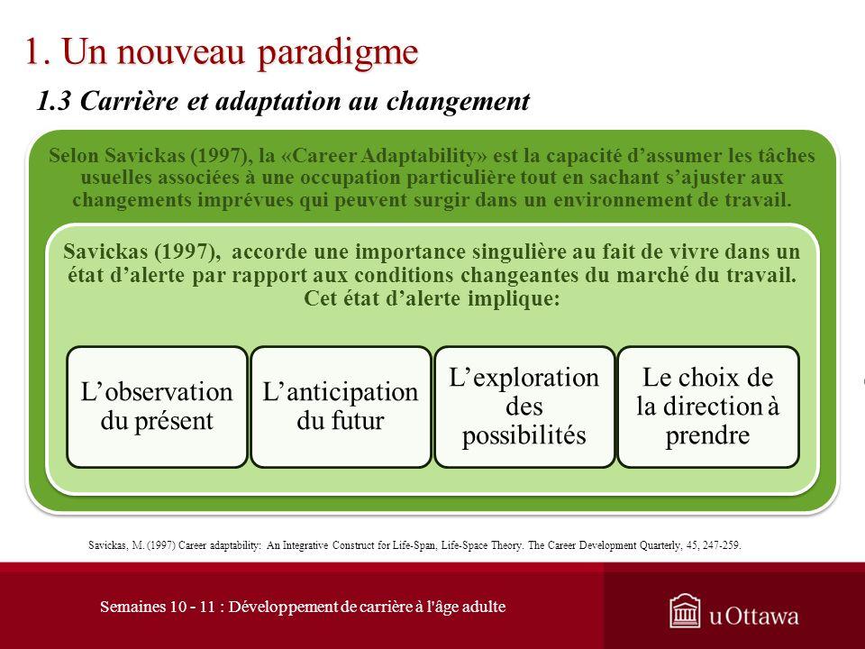 1. Un nouveau paradigme 1.3 Carrière et adaptation au changement