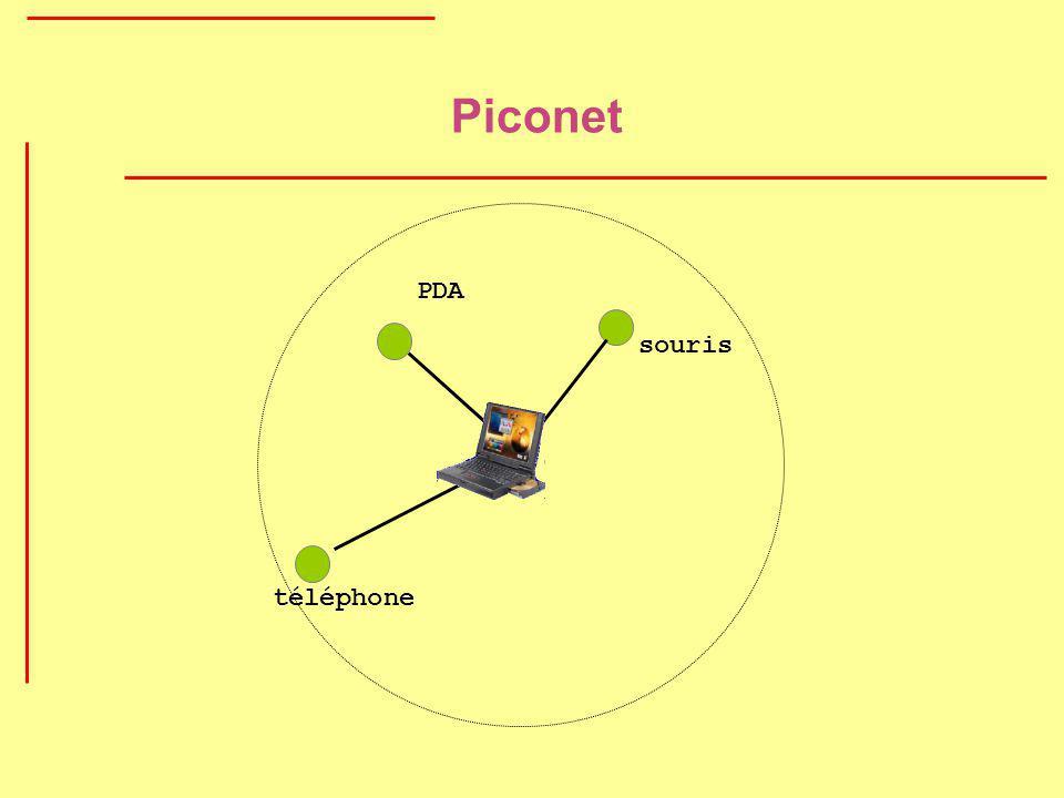 Piconet PDA téléphone souris