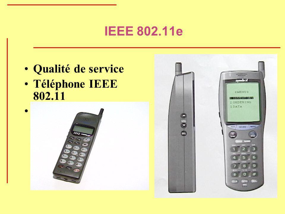 IEEE 802.11e Qualité de service Téléphone IEEE 802.11