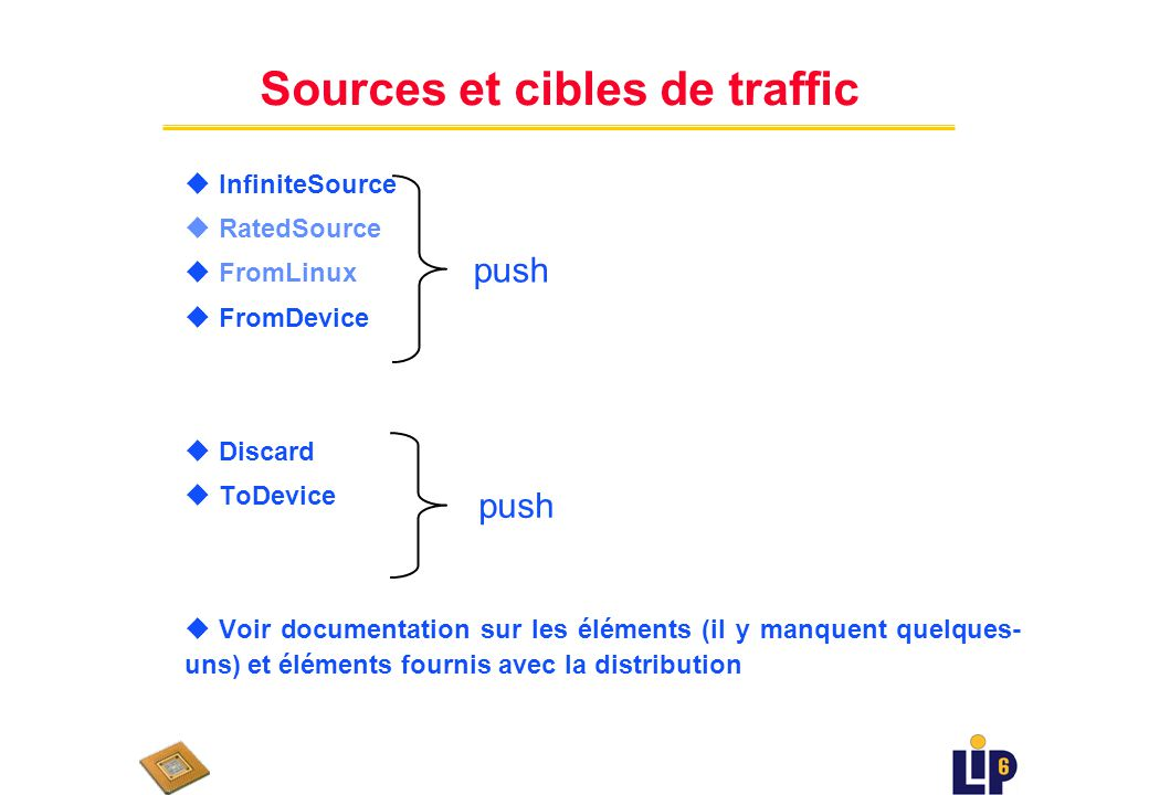 Sources et cibles de traffic