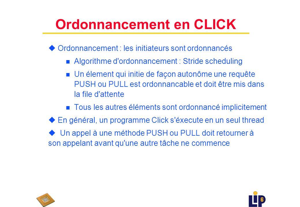 Ordonnancement en CLICK