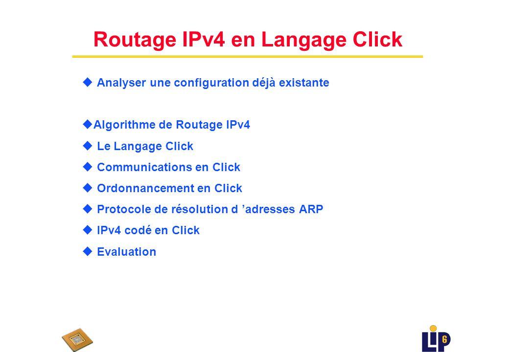 Routage IPv4 en Langage Click