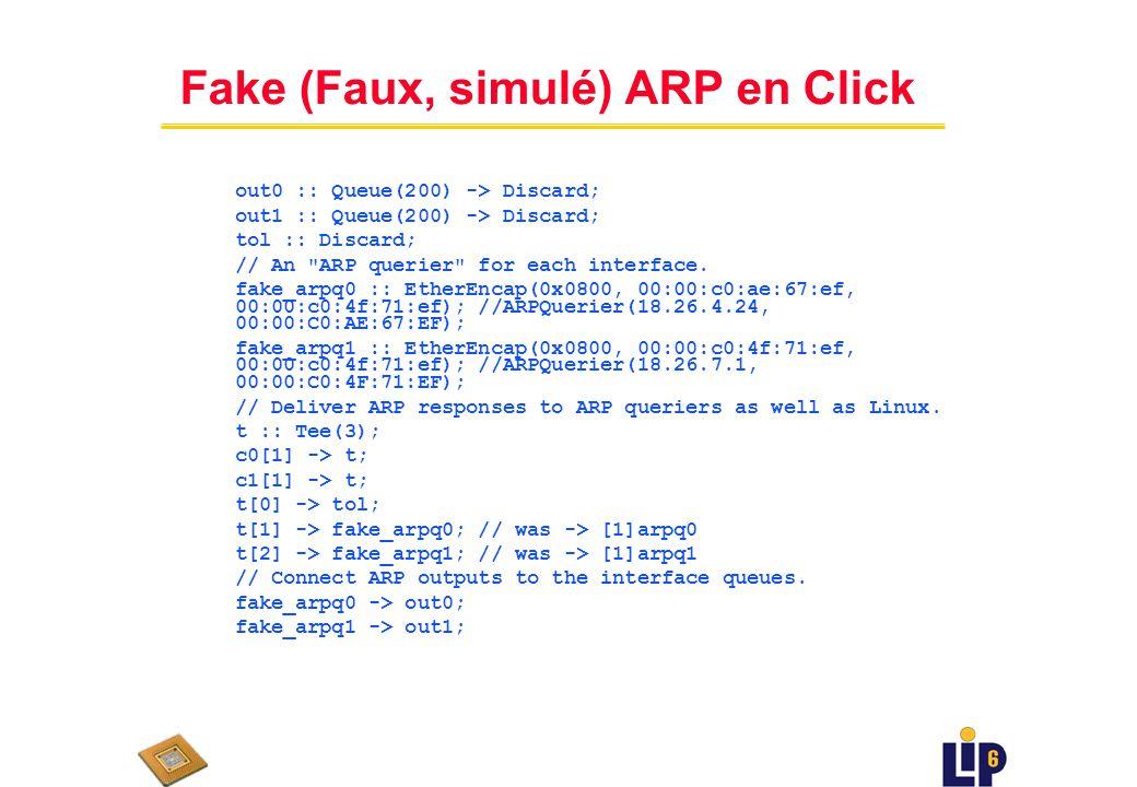 Fake (Faux, simulé) ARP en Click