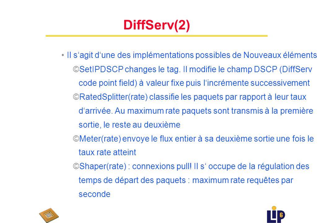DiffServ(2) Il s'agit d'une des implémentations possibles de Nouveaux éléments.
