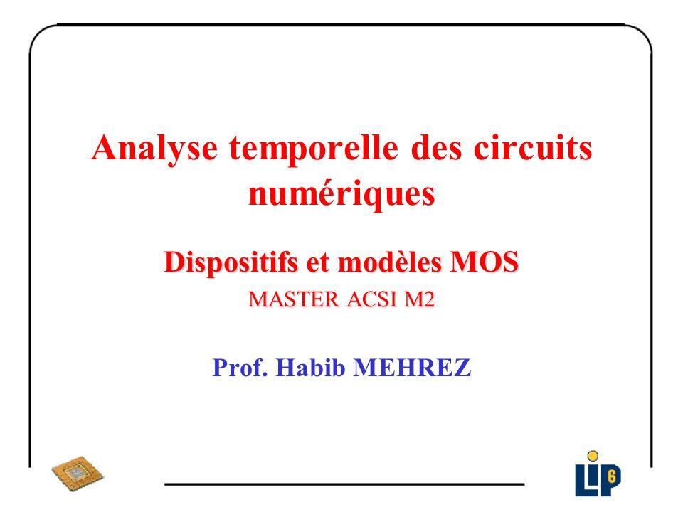 Analyse temporelle des circuits numériques