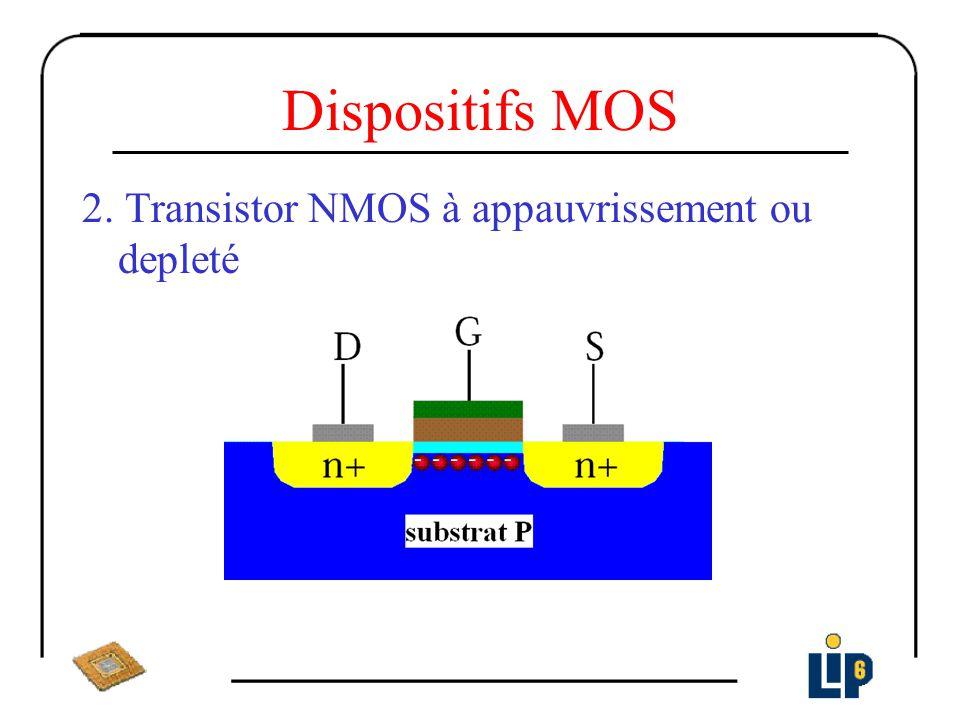 Dispositifs MOS 2. Transistor NMOS à appauvrissement ou depleté