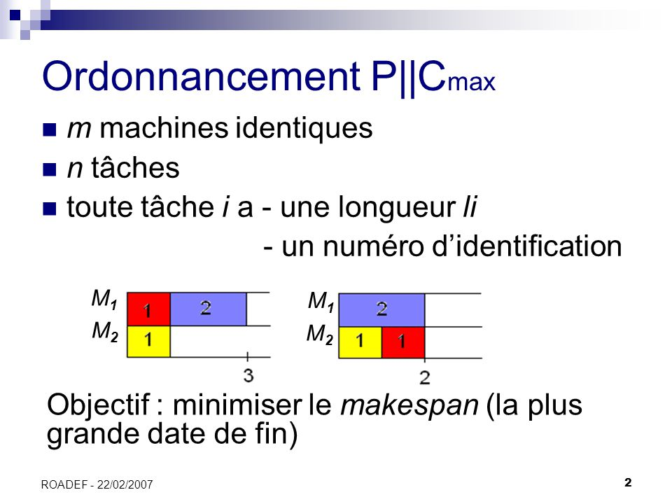 Ordonnancement P||Cmax