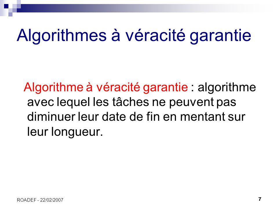 Algorithmes à véracité garantie