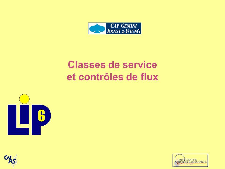 Classes de service et contrôles de flux