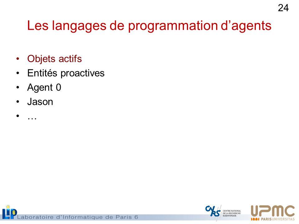Les langages de programmation d'agents