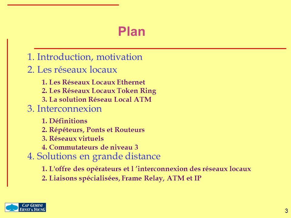 Plan 1. Introduction, motivation 2. Les réseaux locaux