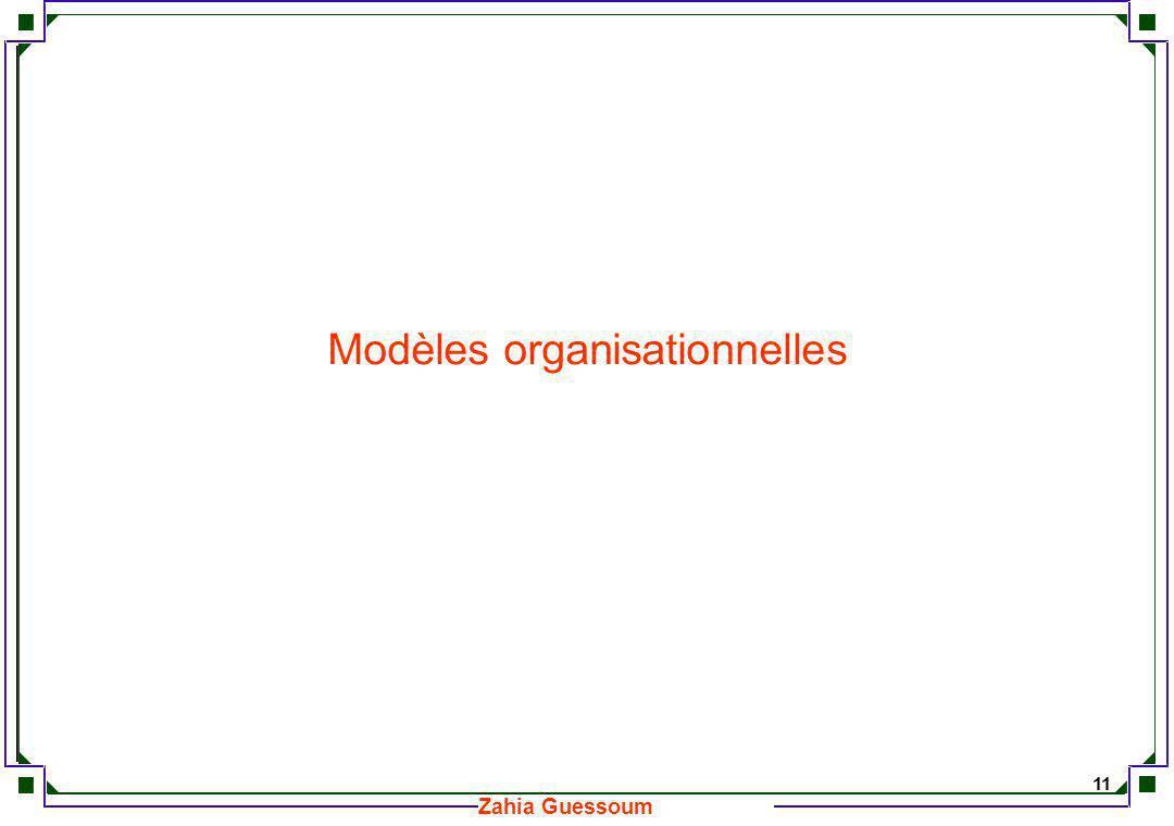 Modèles organisationnelles