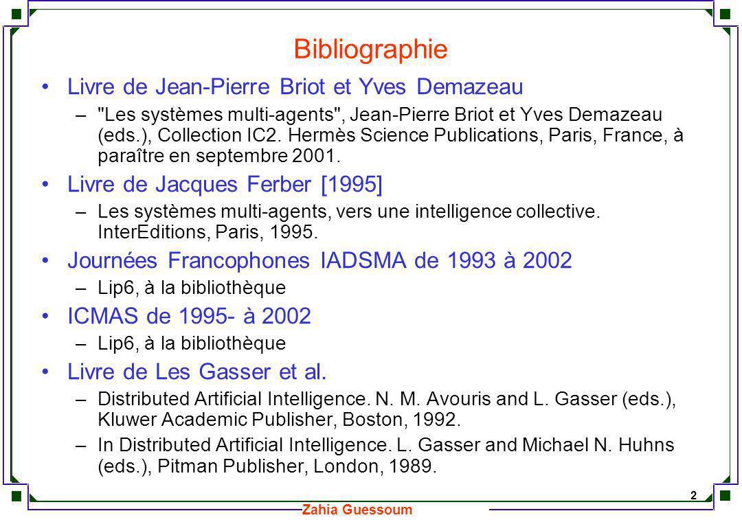 Bibliographie Livre de Jean-Pierre Briot et Yves Demazeau