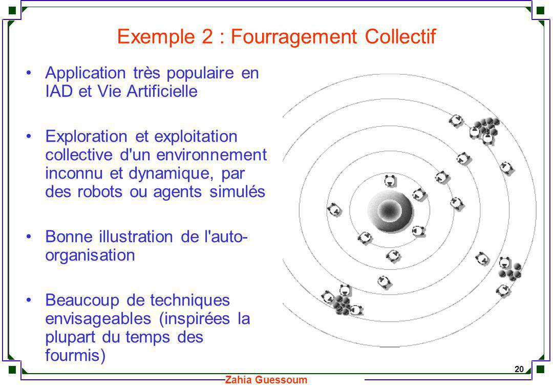 Exemple 2 : Fourragement Collectif