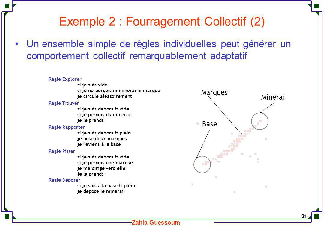 Exemple 2 : Fourragement Collectif (2)