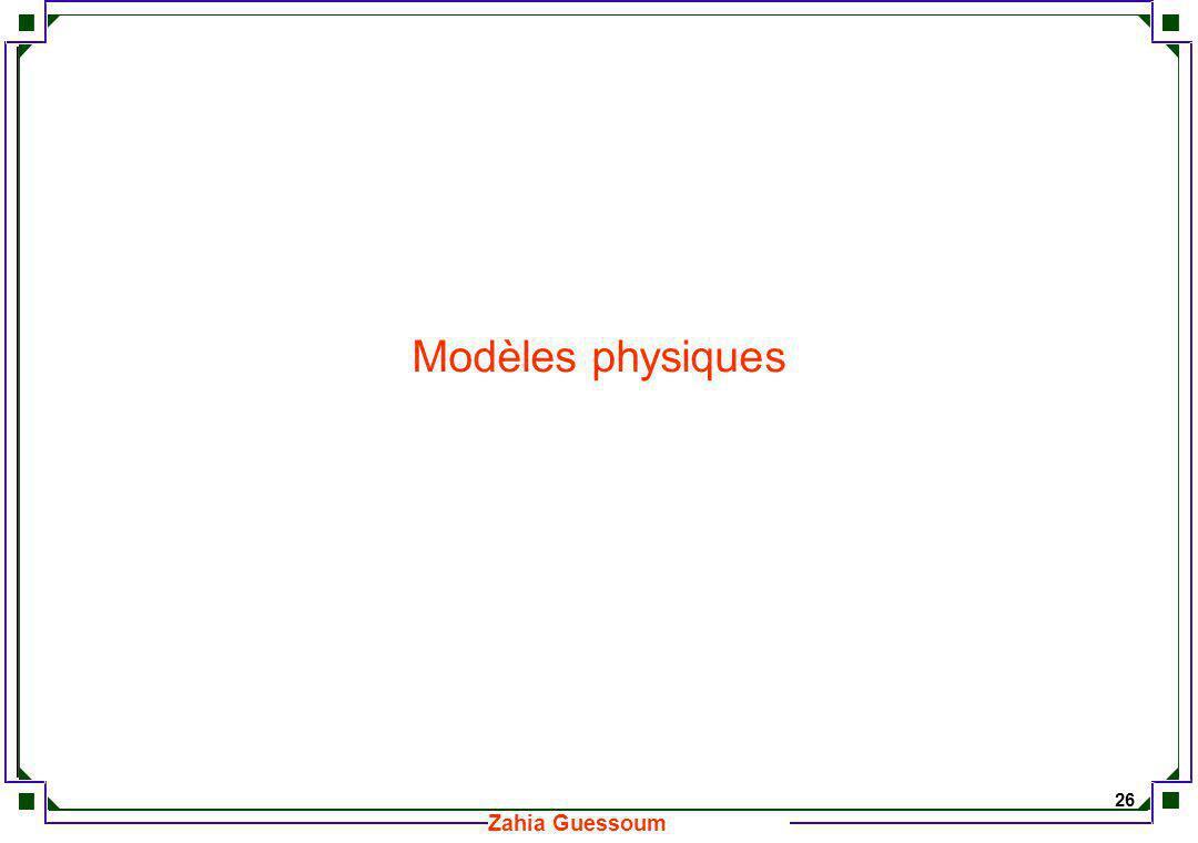 Modèles physiques
