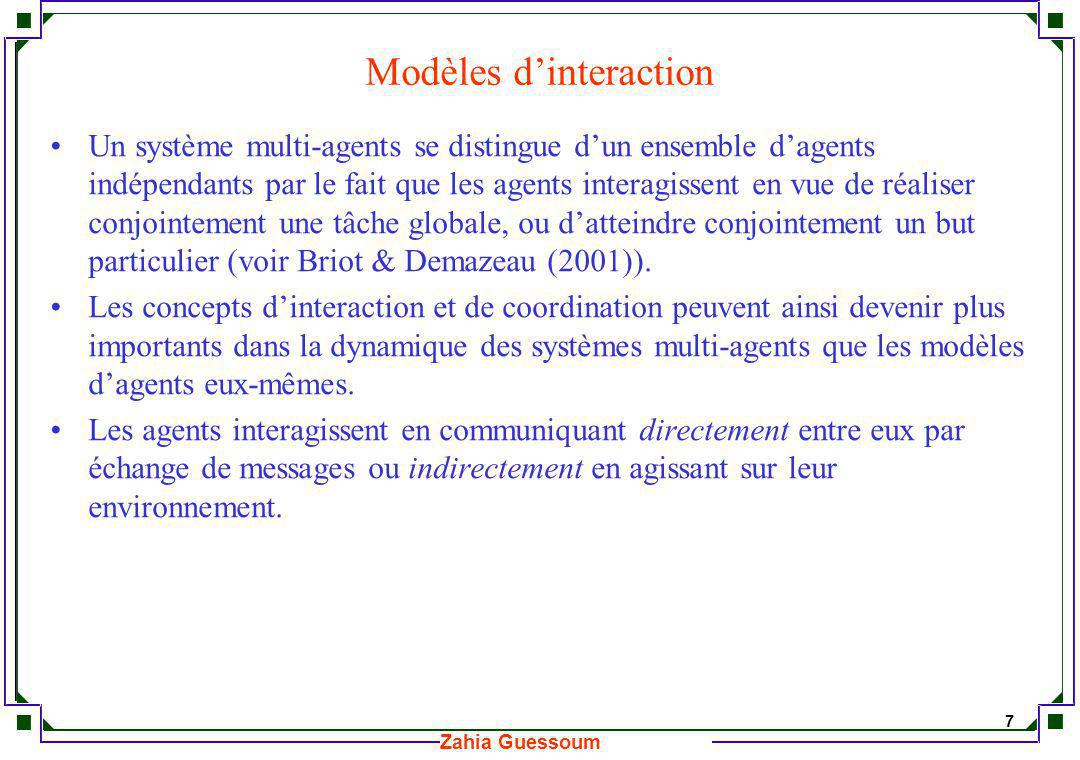 Modèles d'interaction