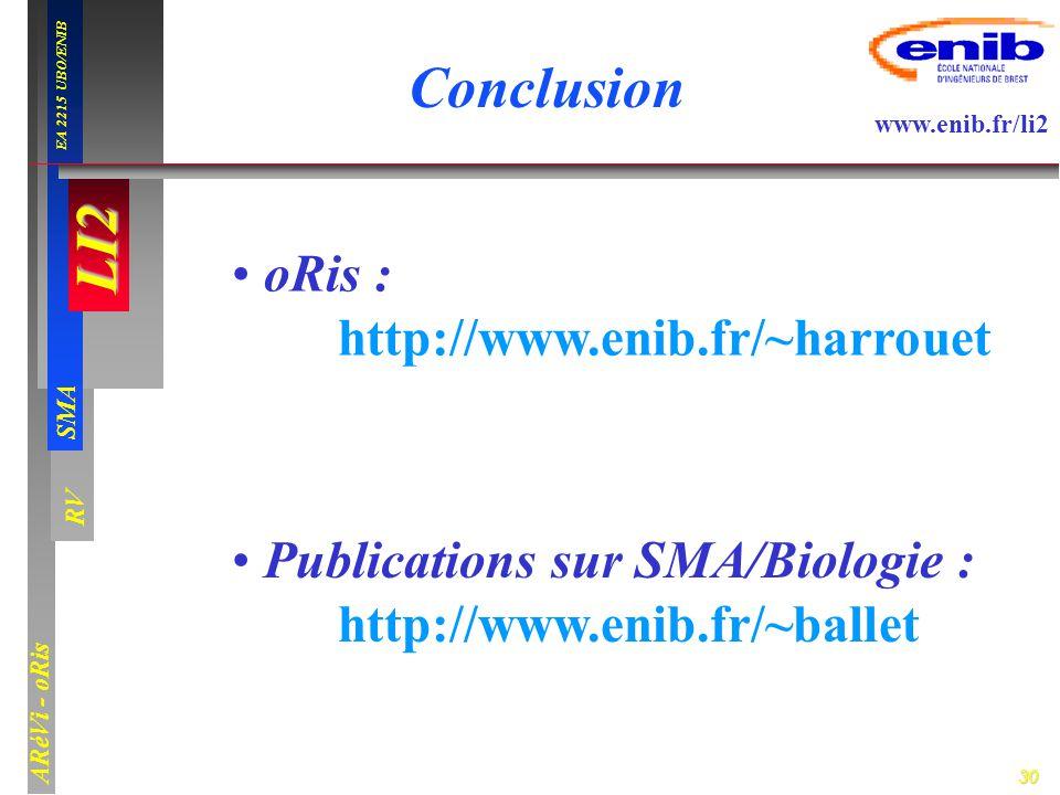 Conclusion oRis : http://www.enib.fr/~harrouet