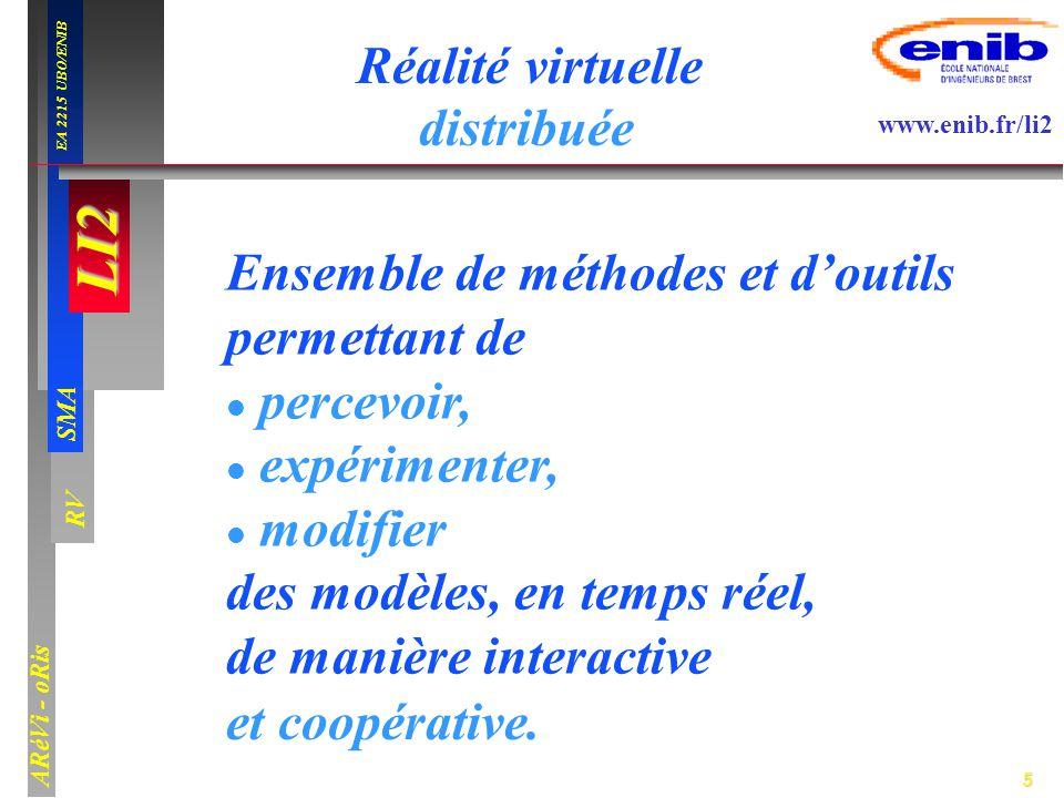 Réalité virtuelle distribuée. et coopérative. Ensemble de méthodes et d'outils. permettant de. percevoir,