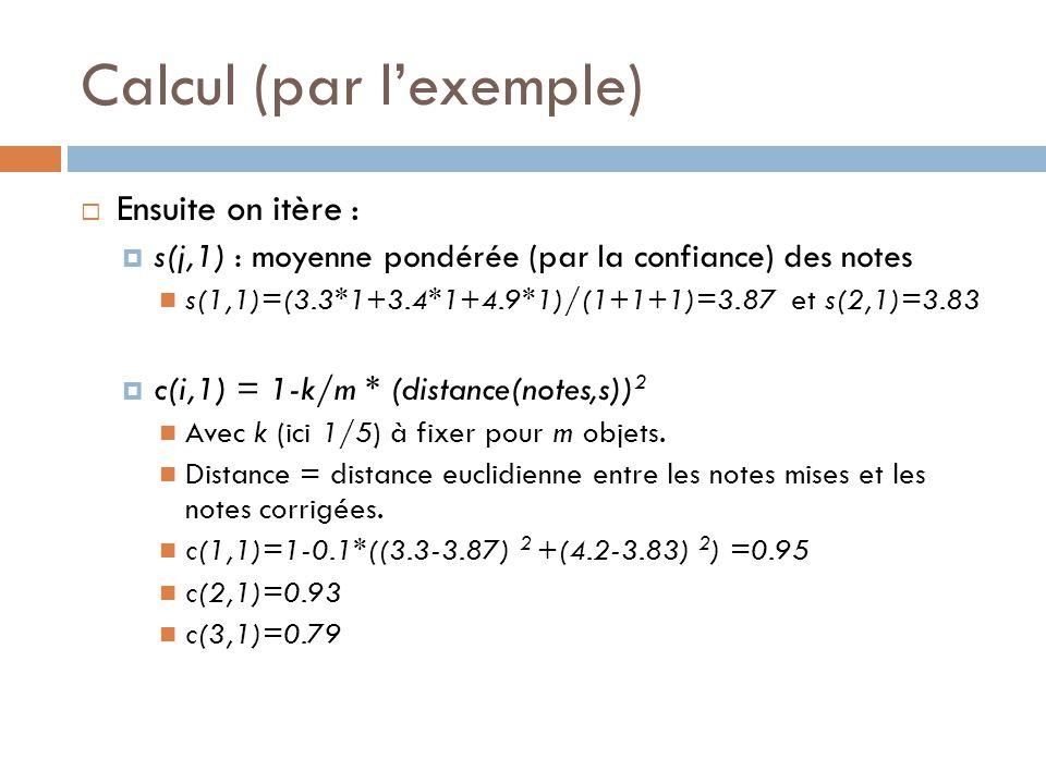 Calcul (par l'exemple)
