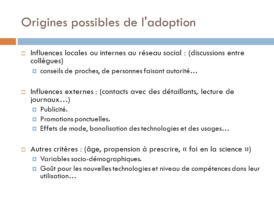 Origines possibles de l adoption
