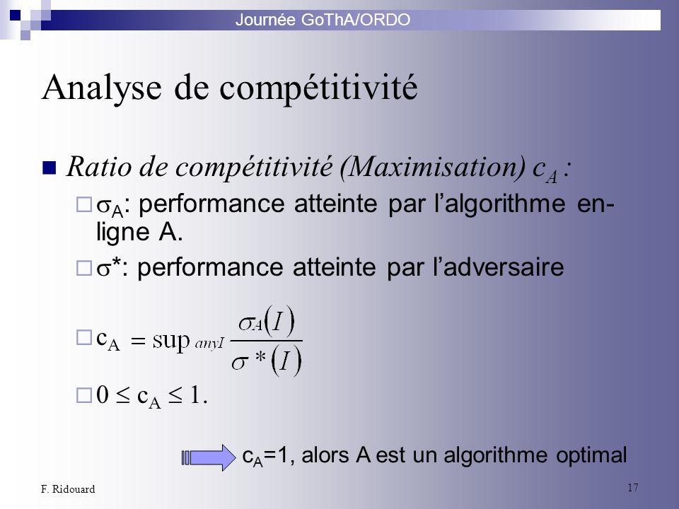 Analyse de compétitivité