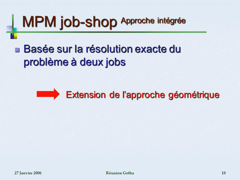 MPM job-shop Approche intégrée
