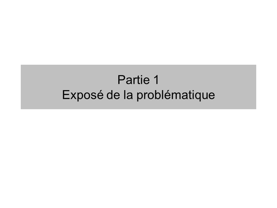 Partie 1 Exposé de la problématique