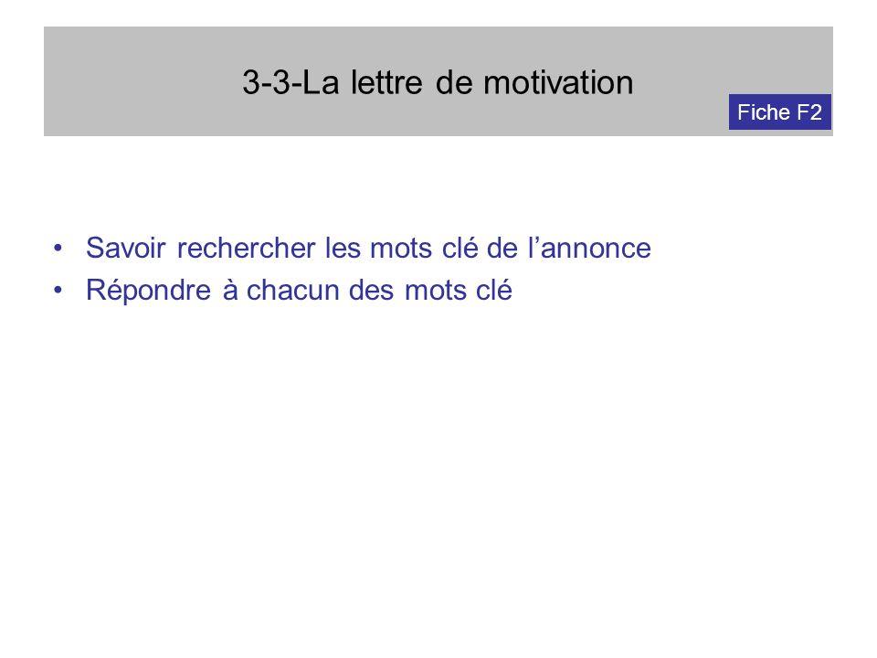 3-3-La lettre de motivation