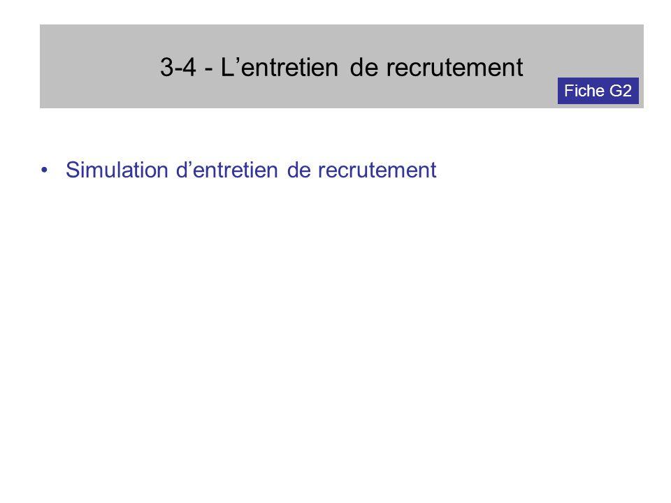 3-4 - L'entretien de recrutement