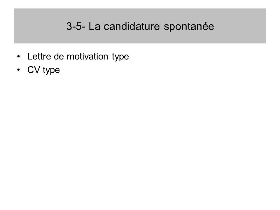 3-5- La candidature spontanée