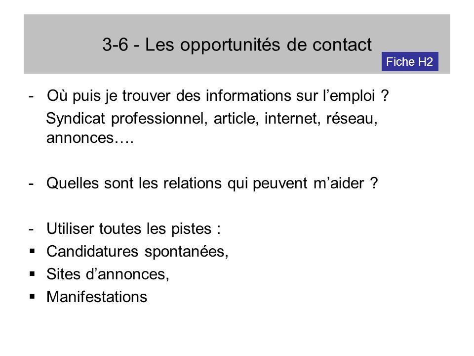 3-6 - Les opportunités de contact