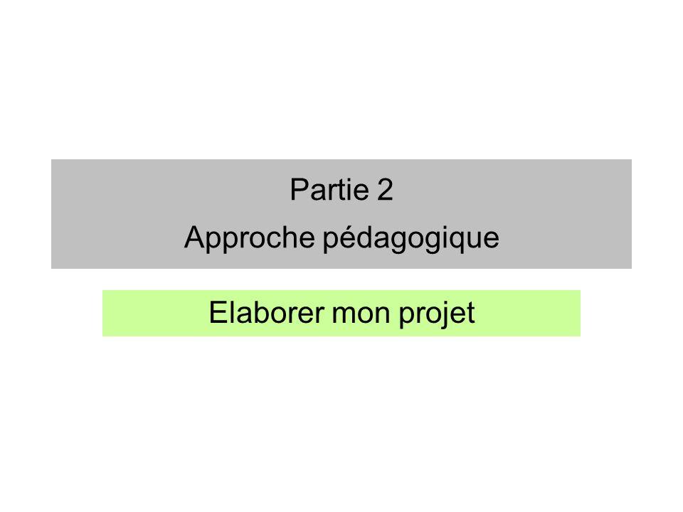 Partie 2 Approche pédagogique