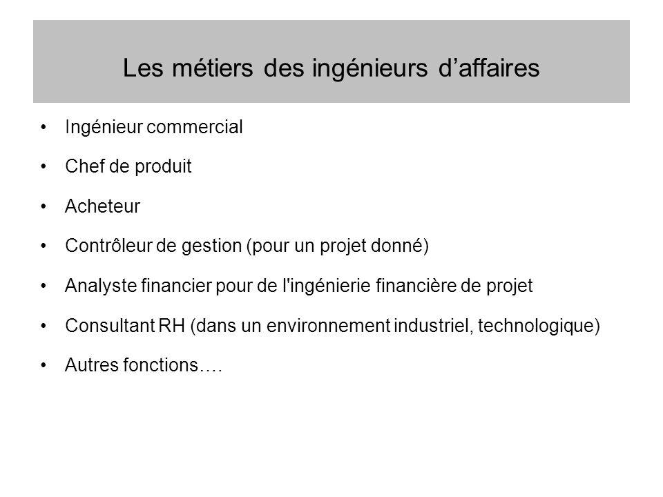Les métiers des ingénieurs d'affaires