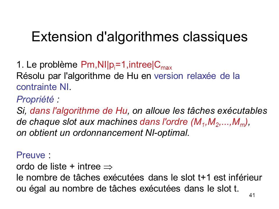Extension d algorithmes classiques