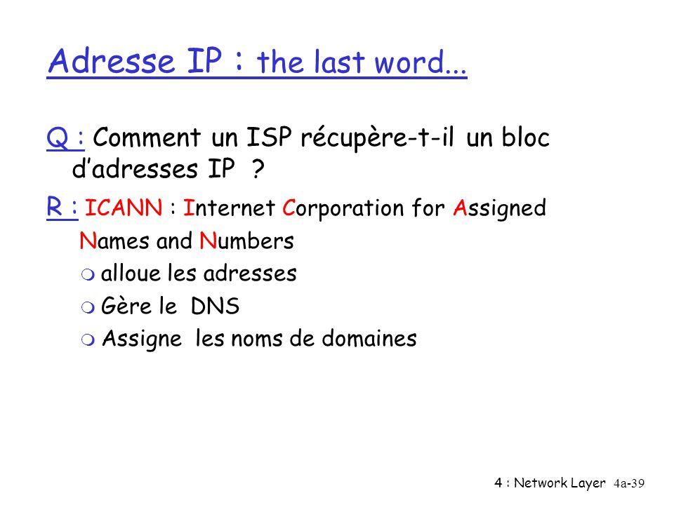 Adresse IP : the last word...