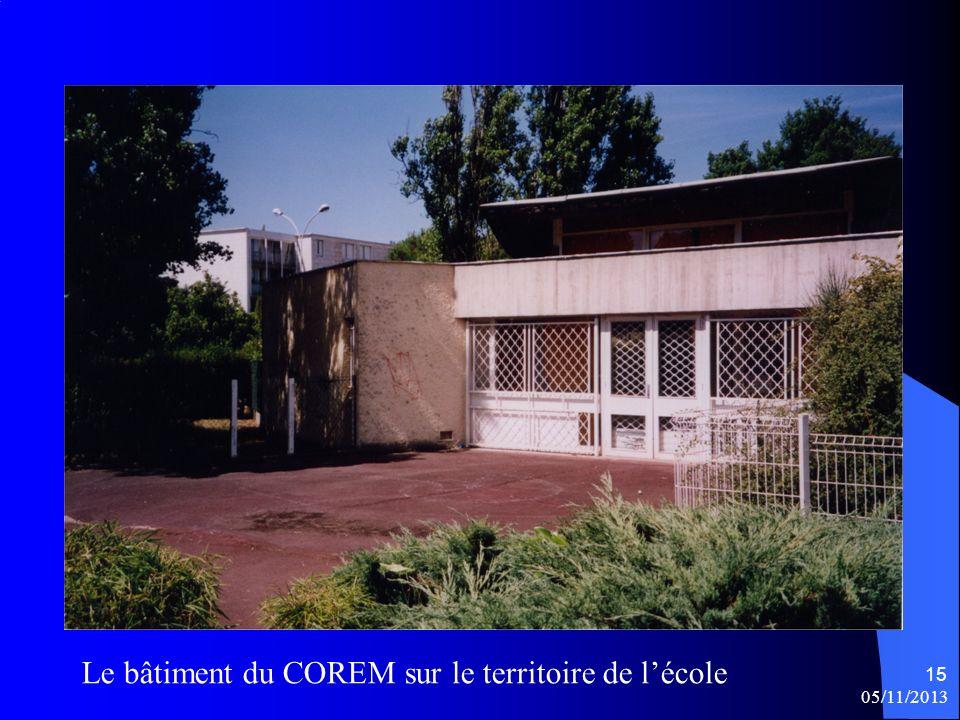 Le bâtiment du COREM sur le territoire de l'école