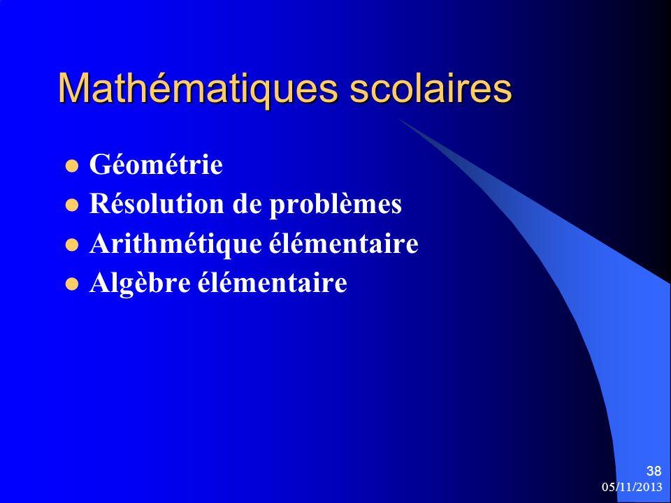 Mathématiques scolaires