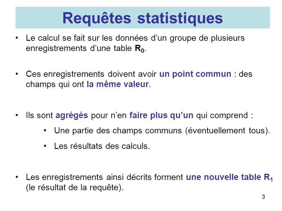 Requêtes statistiques