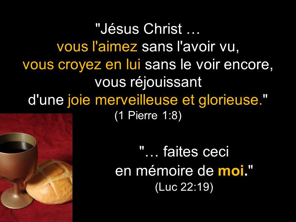… faites ceci en mémoire de moi. (Luc 22:19)