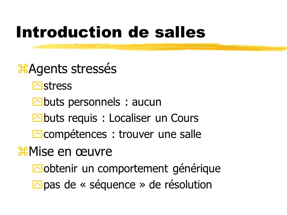 Introduction de salles