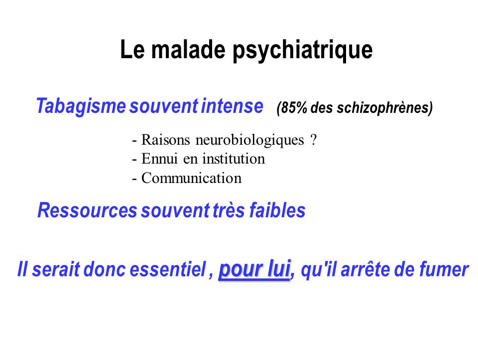Le malade psychiatrique