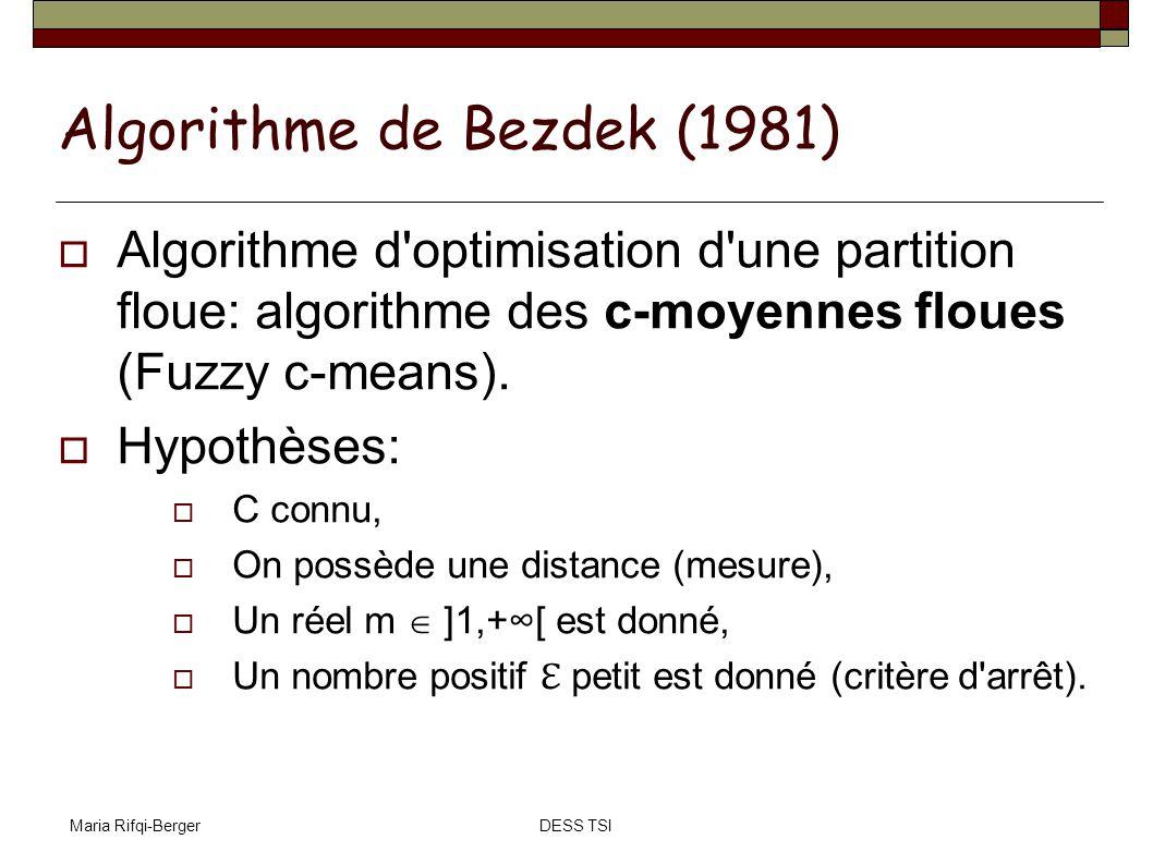 Algorithme de Bezdek (1981)