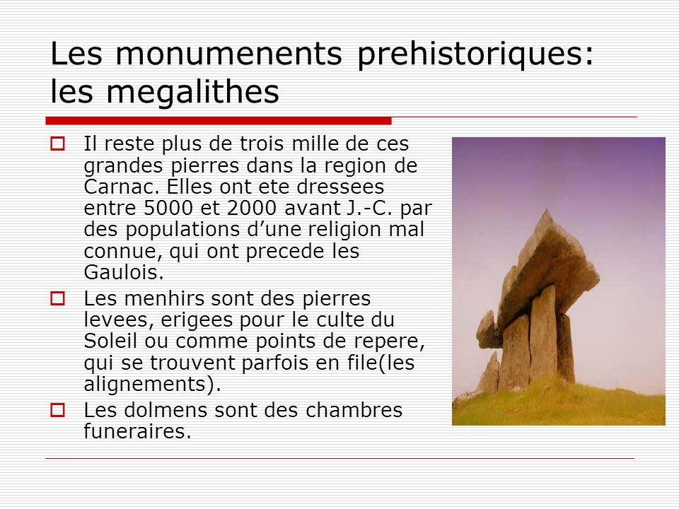 Les monumenents prehistoriques: les megalithes
