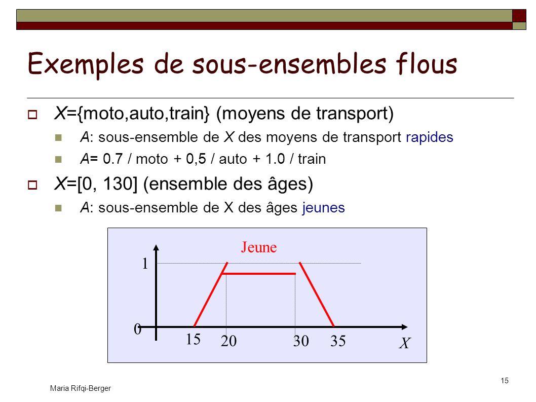 Exemples de sous-ensembles flous
