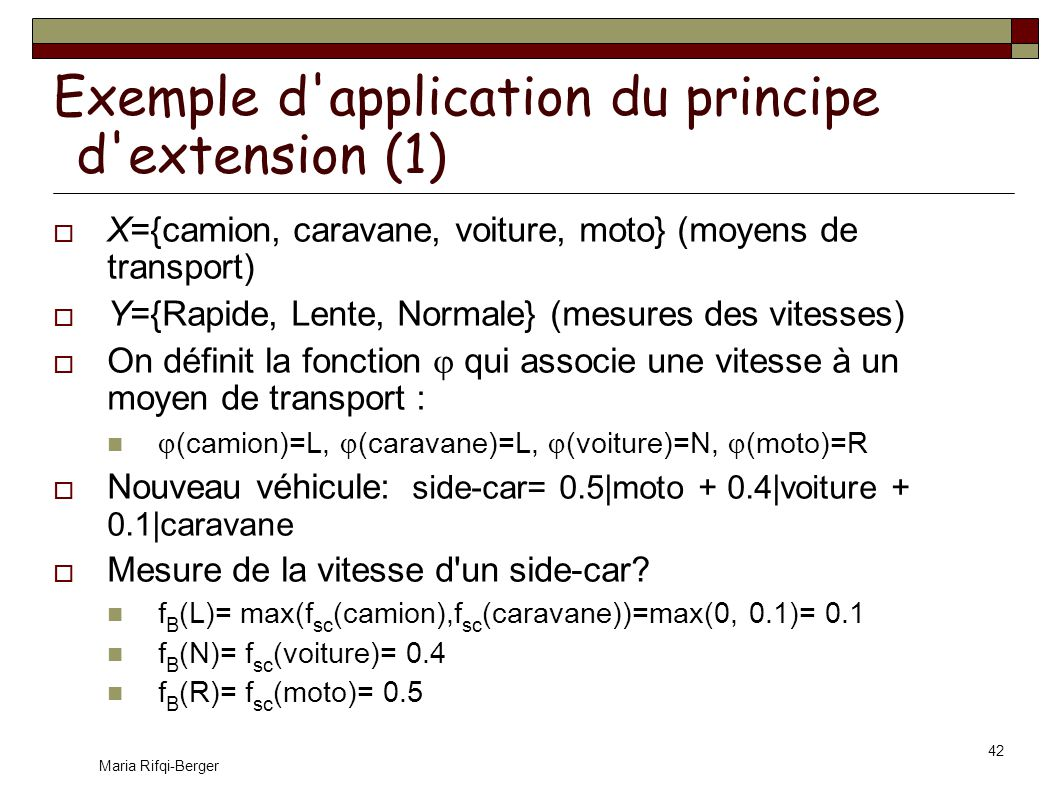 Exemple d application du principe d extension (1)